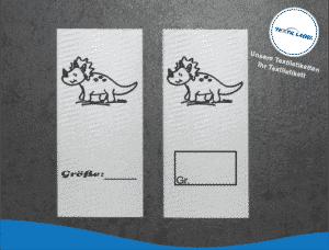 Textiletiketten für Größenbeschriftung Dino Triceratops M015016