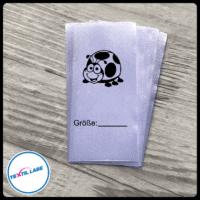 Textil-Label.de Marienkäfer Größenetikett Textiletiketten Strich