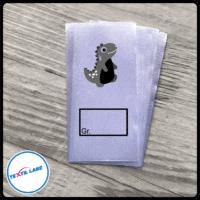 Textil-Label.de Dino Größenetikett Textiletiketten Kasten