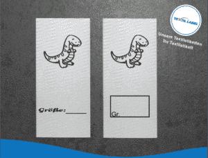 Textiletiketten für Größenbeschriftung Dino T-Rex M030031