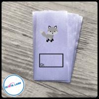 Textil-Label.de Fuchs Größenetikett Textiletiketten Kasten