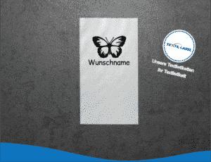 Wunschnamen Schmetterling Namensetiketten W003