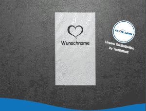 Wunschname Herz Namensetiketten W006