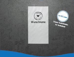Wunschname Love 4 Namensetiketten W019