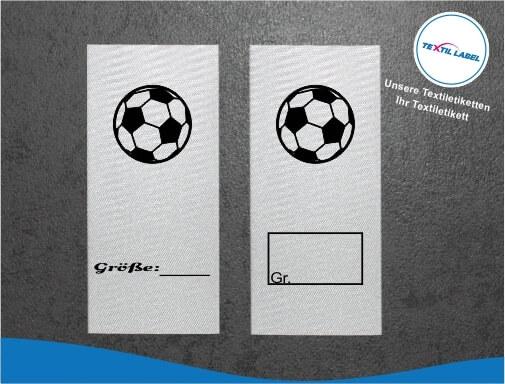 Fußball Größenetikett Textiletiketten für Größenbeschriftung M054055