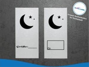 Mond Größenetikett Textiletiketten für Größenbeschriftung M056057