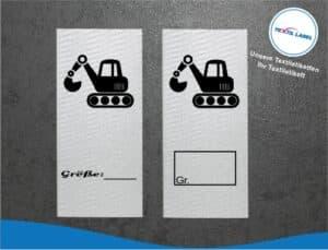 Bagger Größenetikett Textiletiketten für Größenbeschriftung M060061