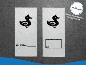 Ente Größenetikett Textiletiketten für Größenbeschriftung M070071