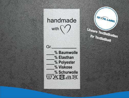 Handmade Etikett universal U012