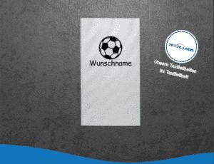 W024 Namensetiketten Wunschname Fußball Namensetiketten