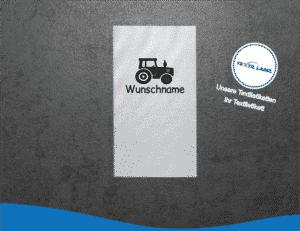 Wunschname Traktor Namensetiketten W031