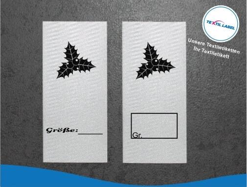 Mistelzweig Größenetikett Textiletiketten für Größenbeschriftung