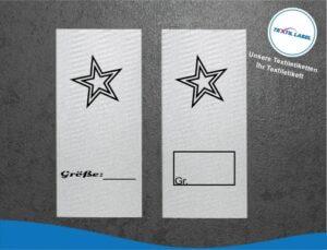Stern Größenetikett Textiletiketten für Größenbeschriftung