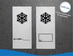 Schneeflocke Größenetikett Textiletiketten für Größenbeschriftung