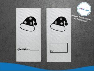 Mütze Größenetikett Textiletiketten für Größenbeschriftung