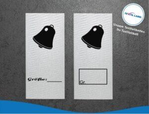 Glocke Größenetikett Textiletiketten für Größenbeschriftung