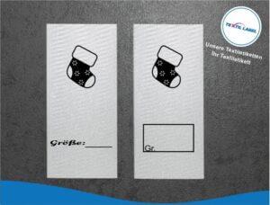 Socken Größenetikett Textiletiketten für Größenbeschriftung