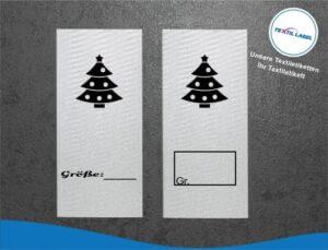 Weihnachtsbaum Größenetikett Textiletiketten für Größenbeschriftung