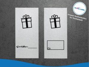 Geschenk Größenetikett Textiletiketten für Größenbeschriftung