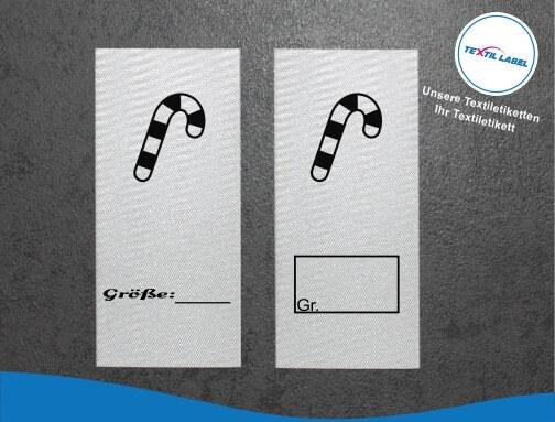 Zuckerstange Größenetikett Textiletiketten für Größenbeschriftung
