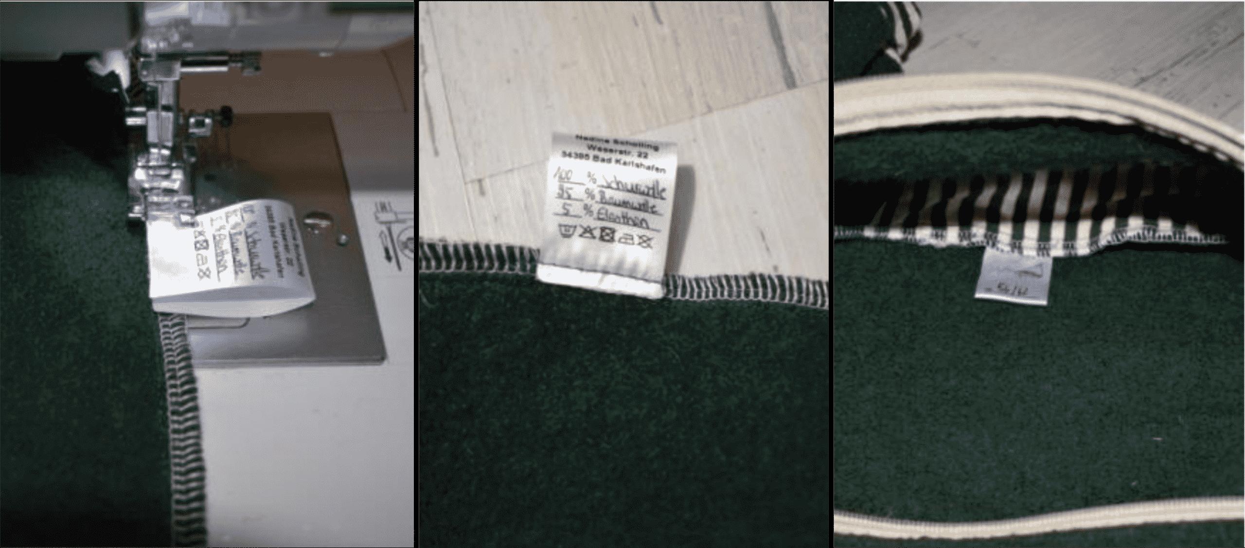 Anleitung zum Einnähen von Textiletiketten Anleitung Bild 1
