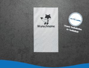 Wunschname Fuchs Namensetiketten W020