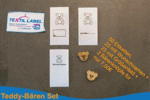 Premium Textiletiketten Teddy Bären Set